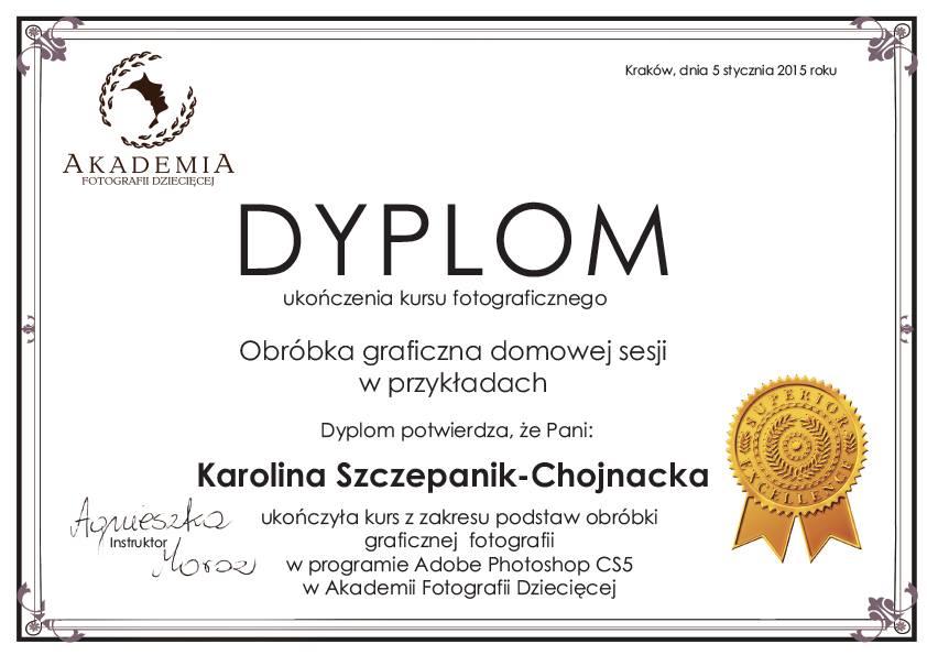 Dyplom - obróbka graficzna