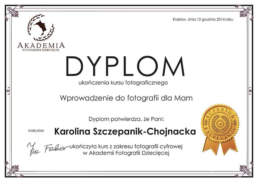 Dyplom - fotografia dla mam